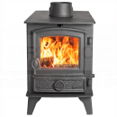 SHU1138 Hunter Hawk 4 Double Sided, Double Depth MF Stove, Traditional Door