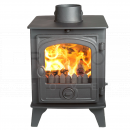 SHU1156 Hunter Hawk 4D Double Sided, Single Depth MF Stove, Traditional Door