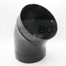 90M06303 150mm 45 Deg Elbow, Matt Blk Vit Enamel