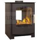 SMP1580 Mendip Churchill 8 SE Double Sided Stove, Black